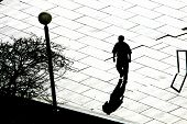 A person Crossing A Street