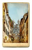 European landmarks- vintage cards- Rome (Spanish steps)