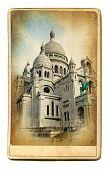 European landmarks- vintage cards-Paris (Montmartre cathedral)