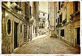 Venetian pictures - artwork in retro style