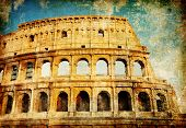 Rome - great italian landmarks vintage series