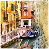 venetian channels - artwork in retro style