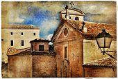 medieval Spain - artistic retro series, streets of Cuenca