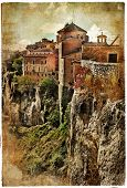 medieval Spain artistic vintage series - Cuenca