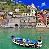 colors of sunny Italy - famous Cinque terre - Vernazza