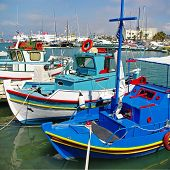 traditional Greece series - colorful boats