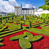 Beautiful Villandry castle , Loire valley, France