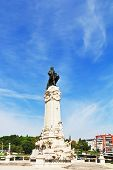 Lisbon. The colossal monument to the Portuguese king-conqueror