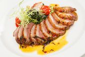 image of brisket  - roasted pork with vegetables - JPG