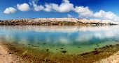Tranquil sea mirror Pag Croatia, Adriatic Mediterranean Sea