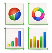 Charts and Graphs Collection. Vector Illustration