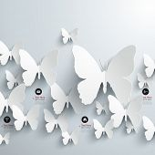 Abstract 3D Butterflies Design