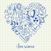 Science Drawings In Heart Shape