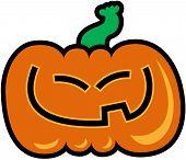 Slanted-eyed Halloween pumpkin