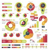foto of colorful banner  - Vector infographic elements - JPG