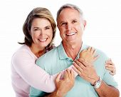 stock photo of dental  - Senior couple portrait - JPG
