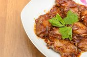 Chicken Wings With Red Wine Sauce