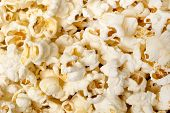 picture of popcorn  - Close up shot of many kernels of popcorn - JPG