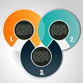 Abstract vector background with three circular tiers for text