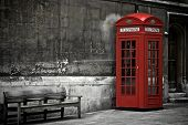 picture of phone-booth  - British Phone Booth in London United Kingdom - JPG