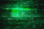 stock photo of encoding  - Cyber space with hexadecimal code as digital background - JPG