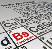 The abbreviation Bs on a peridoic table of elements, with the words You're Full Of It to call out a