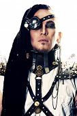 pic of steampunk  - Portrait of a steampunk man - JPG