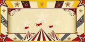 Color circus invitation. An invitation card for your circus company.