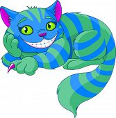 picture of alice wonderland  - Cheshire Cat levitating in the air - JPG