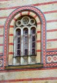 Budapest The Choral Synagogue Fragment Facade