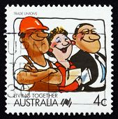 Postage Stamp Australia 1988 Trade Unions, Living Together