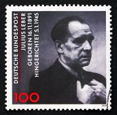 Postage Stamp Germany 1991 Julius Leber, Politician