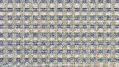 Blue And Orange Grainy Block Pattern