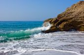 Beach on Mediterranean sea coast in Nerja