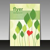 Flyer or Cover Design - Wedding, Valentine Gift or Greeting Card Pattern
