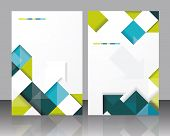 Vector  Brochure Template Design With Cubes And Arrows Elements. Eps 10