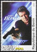 Pierce Brosnan Stamp