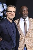 LOS ANGELES - FEB 10: Gary Oldman, Michael Kenneth Williams at the premiere of Columbia Pictures' 'R
