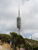 Teletower on Tibidabo's the mountain in Barcelona the architect Norman Foster