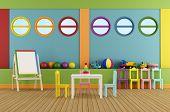 Empty Preschool Classroom