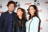 LOS ANGELES - FEB 10:  Jack Henry Robbins, Susan Sarandon, Eva Amurri Martino at the AARP