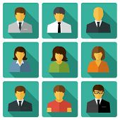foto of avatar  - Business people Flat icons - JPG