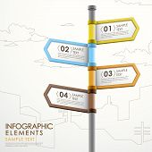 Abstract Signpost Infographics