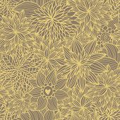 Floral seamless pattern in ocher colors