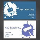 Template cards for painting