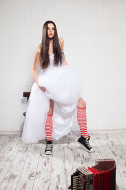 stock photo of runaway  - Runaway Bride - JPG