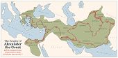 pic of babylon  - Conquest course of Alexander the Great from Greece to India to Babylon in 334 - JPG
