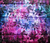 Abstract Art Vintage Flower Pattern