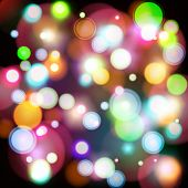 Abstract vector background with bokeh lights