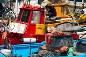 Fishing Boats In The Harbor - Liguria Italy